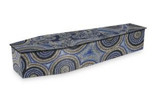 Aboriginal Dot Art Coffin