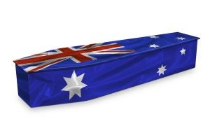 Australian Flag Coffin