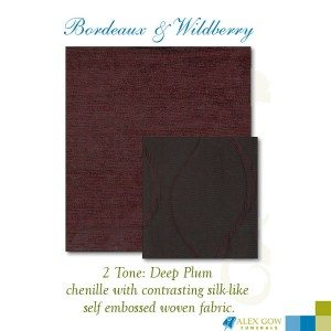 Fabric Bordeaux and Wildberry