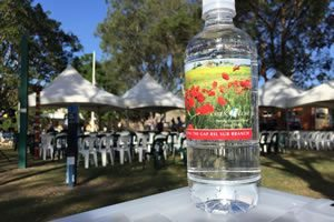 Water for Anzac Day.