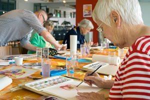 Alex Gow's fun art workshops.