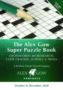 Alex Gow Funerals Puzzle Book Sixteen
