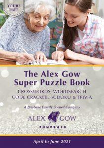 Alex Gow Funerals Puzzle Book Eighteen